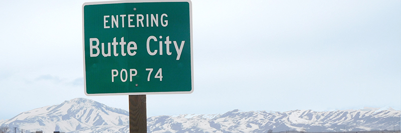 photo of entering butte city sign